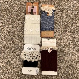 4 pairs NWT Boot toppers boot Cuffs one size